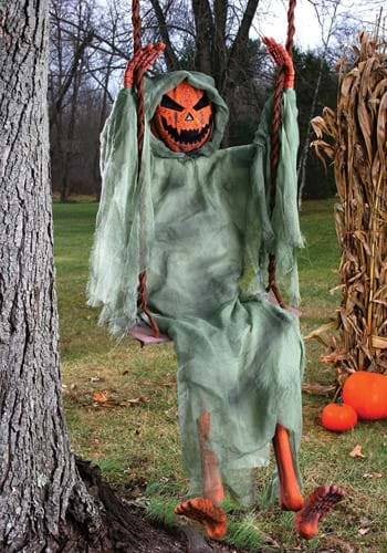 5 Ft Swinging Dead Pumpkin