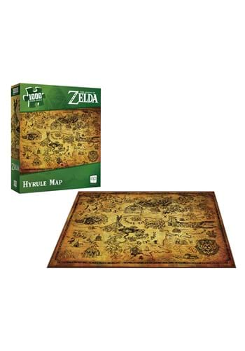 The Legend of Zelda Hyrule Map 1000 Pc Puzzle