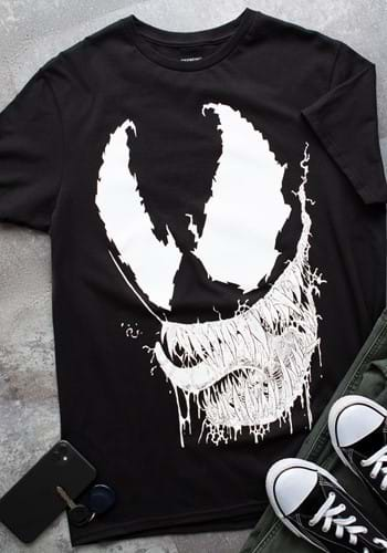 Marvel Venom Face Adult T Shirt for Men update