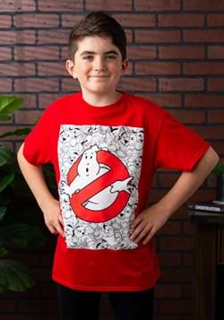 Ghostbusters Logo Youth Red T-Shirt-update1