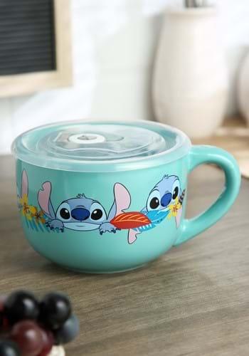 Lilo and Stitch Aloha Multi Face 24oz Soup Mug w/Lid