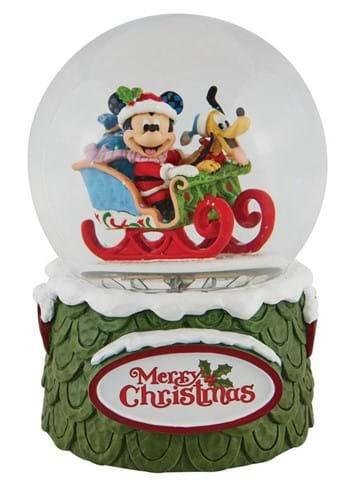 Jim Shore Mickey Pluto Waterball