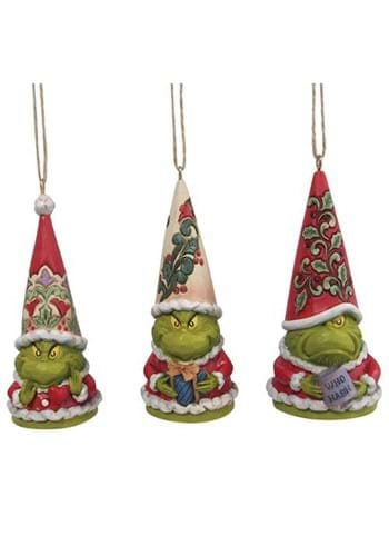 Grinch Gnome Ornament 3 Pack