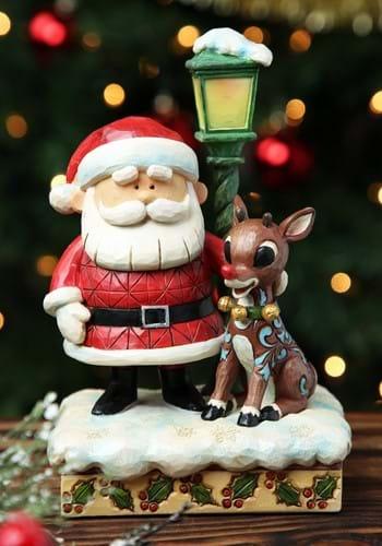 Jim Shore Rudolph Santa and Lamp Post Statue