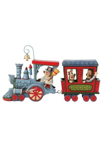 Jim Shore Frosty and Friends in Train Statue
