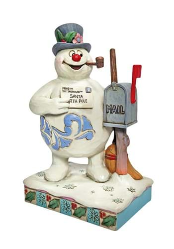 Jim Shore Frosty Next to Mailbox Statue