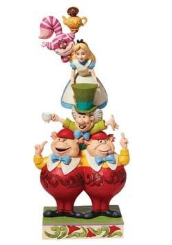 Jim Shore Alice in Wonderland Stacked Statue