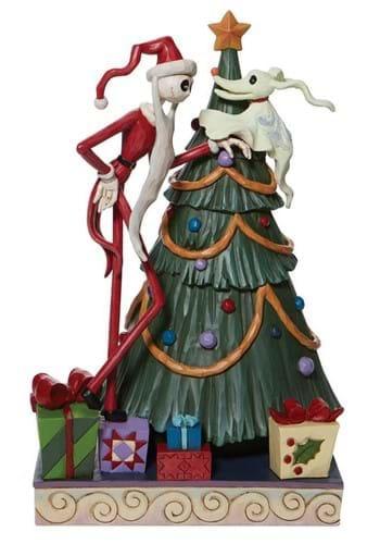 Jim Shore Santa Jack and Zero w Tree Statue