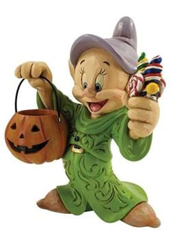 Jim Shore Snow White Dopey Halloween with Pumpkin Statue