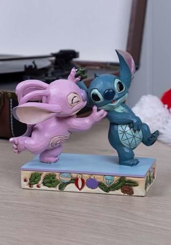 Disney Jim Shore Angel and Stitch Mistletoe Statue