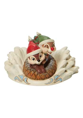 Jim Shore Chip and Dale Sledding Saucer Statue