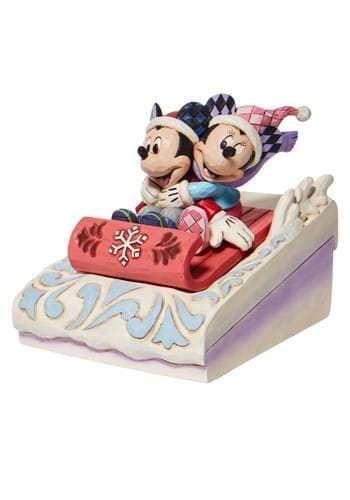 Jim Shore Mickey and Minnie Sledding Statue