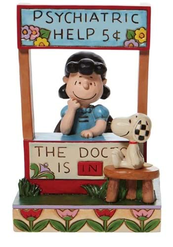 Jim Shore Lucy Psychiatric Booth Chaser Statue
