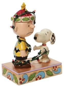 Jim Shore Charlie Brown Tangled Lights Statue