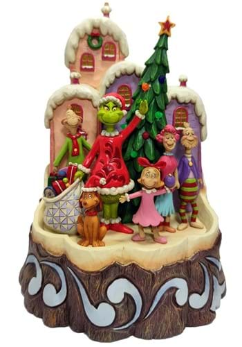 Jim Shore Dr. Seuss Grinch Carved by Heart Statue
