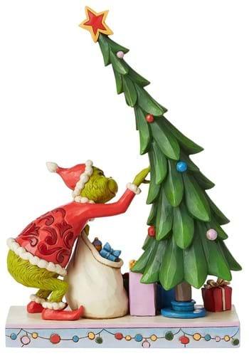Jim Shore Grinch Un-Decorating Tree Statue