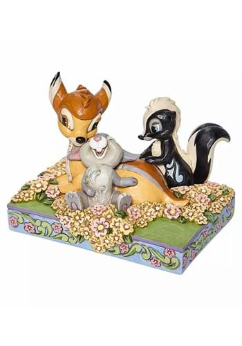 Jim Shore Bambi and Friends in Flowers Statue