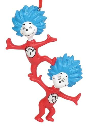 Dr Seuss Thing 1 Thing 2 Ornament upd