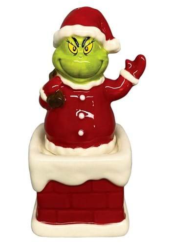 Santa Grinch in Chimney Salt and Pepper Shaker
