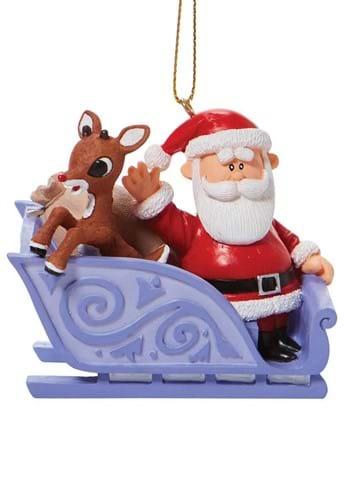 Rudolph Santa's Sleigh Ornament