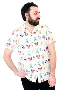 Cakeworthy Adult Mickey Rainbow Sensational 6 Camp Shirt