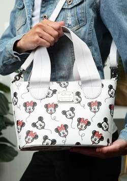 Loungefly Disney Mickey and Minnie Balloons AOP Handbag