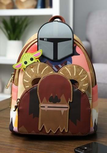 Loungefly Star Wars Mandalorian Bantha Ride Mini Backpack-1