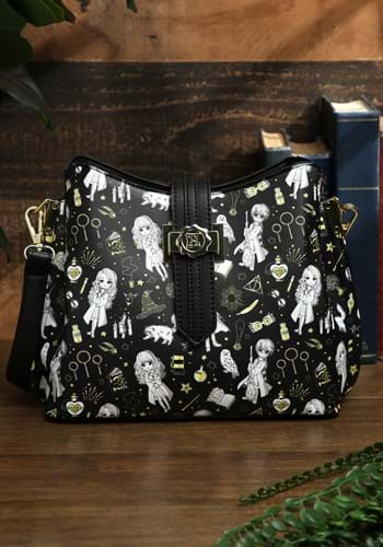 Loungefly Harry Potter Magical Elements AOP Crossbody Bag-1