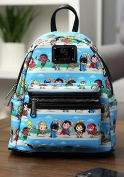 Loungefly DC Superheroes Chibi Lineup Mini Backpack-1
