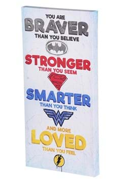 Justice League 12 X 24 Inspirational Canvas Wall Decor