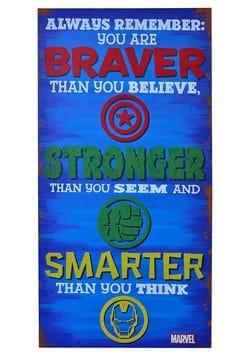 Avengers Braver Stronger Smarter Inspiriational 12