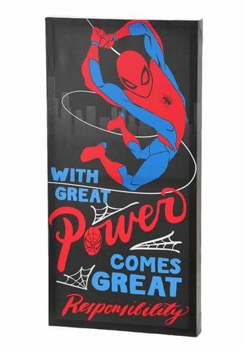 Spider Man Power Inspiriational 12 24 Canvas Wall update