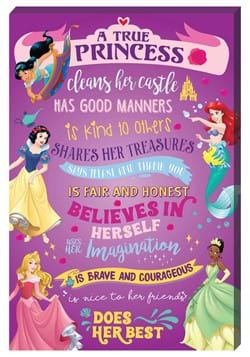Disney A True Princess Inspirational 16x24 Canvas Wall Art