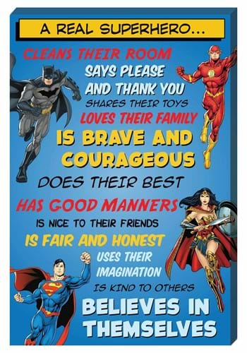 DC Comics A Real Superhero Inspirational 16x24 Canvas Wall A
