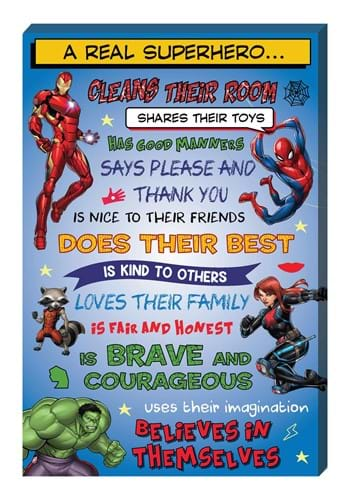 Marvel Comics A Real Superhero Inspirational 16x24 Canvas Wa