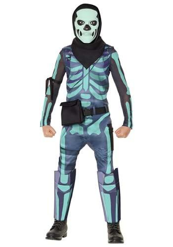Fortnite Kid's Green Skull Trooper Costume