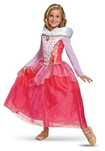 Girls Sleeping Beauty Aurora Deluxe Costume