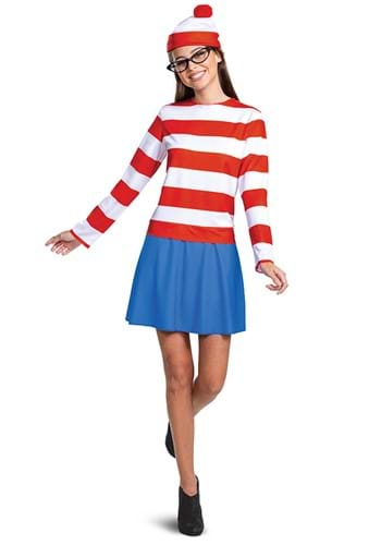 Where's Waldo Adult Classic Wenda Costume