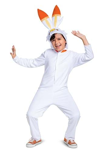 Pokemon Scorbunny Hooded Jumpsuit Classic Costume
