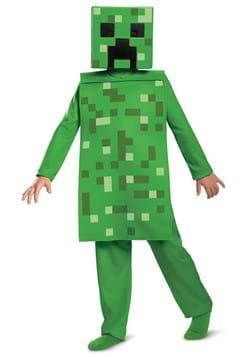 Kids Minecraft Creeper Jumpsuit Costume