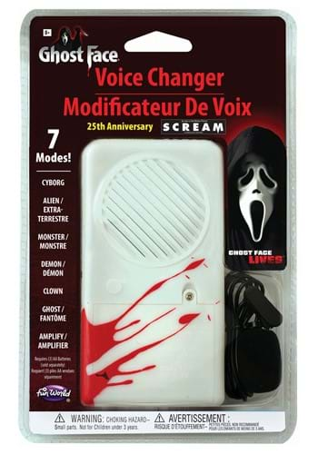 Scream Ghost Face 25th Anniversary Deluxe Voice Changer