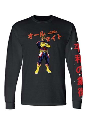 My Hero Academia Mens All Might Long Sleeve Shirt