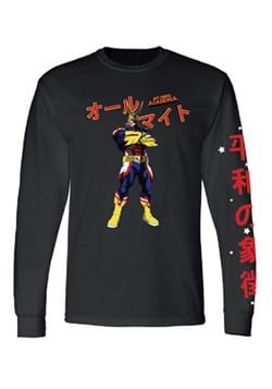 My Hero Academia Mens All Might Long Sleeve Shirt