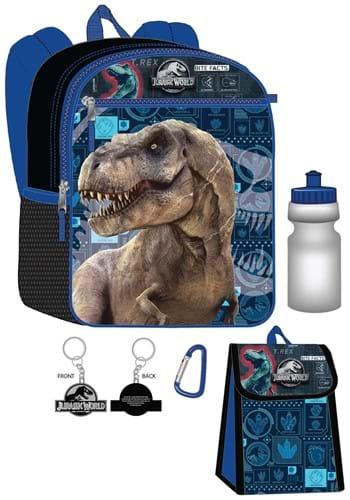 Jurassic Park 5 Pc Backpack Set