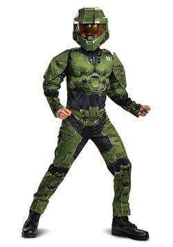 Halo Infinite Master Chief Kid's Muscle Costume