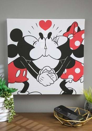 Mickey and Minnie Kiss Canvas Wall Decor