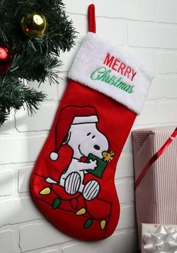 Snoopy 19 Applique Stocking