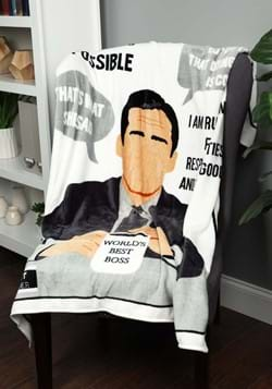 The Office Michael Scott Quotes Throw Blanket