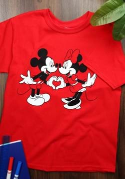Youth Minnie and Mickey Mouse Heart T-Shirt