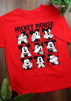 Youth Mickey Mouse Emotions Red T-Shirt